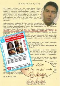 150 Carta de Castaneda falsificada por Felix Merique Gómez