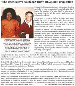 Diferentes periodicos se han hecho eco de las acusaciones de pedofiia contra Sai Baba (1)