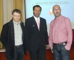Los ponentes, de izq a derecha, José Miguel Pérez Navarro, Alejandro Parra y Oscar Iborra