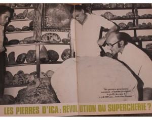 1) En 1976 la revista esotérica L'Inconnu sembró dudas sobre las piedras de Ica