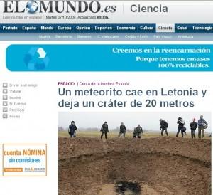 Noticias del falso meteorito (2)