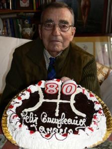 Darnaude en su 80 cumpleaños (Foto M. Garrido)
