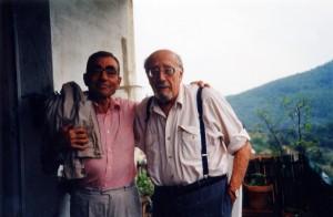 Darnaude y Antonio Ribera en 1995 (Gentileza I. Darnaude)