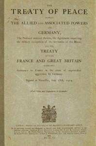 Portada Tratado Versalles