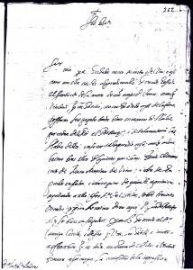 15 pagina 1d2 carta fray Jeronimo d San Jose al cronista Ustarroz