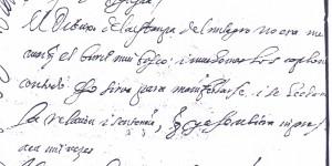 17 detalle confesion pagina 2 carta fray Jeronimo d San Jose al cronista Ustarroz