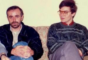 Con Miguel Blanco, en Cáceres, 1989. - copia