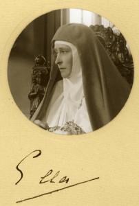 Elisabeth Fiodorovna, Elle vestida      de religiosa
