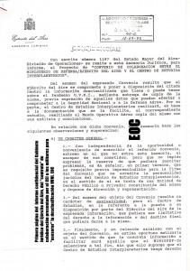 Informe secreto de la Asesoria Legal del Ejército dle Aire desaconsejando la firma del contrato  de Ballester Olmos con los militares