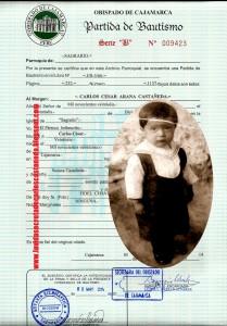76 partida de bautismo de Castaneda en Obispado - copia