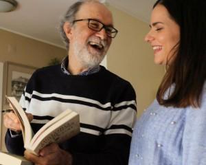 Lourdes Gómez y Joaquim Fernandes en el transcurso de una entrevista - copia