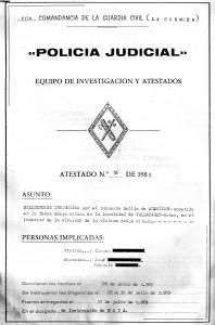 33. Diligencias de la Policia Judicial del caso del asesino hechizado