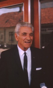 George Adamski Danmark 1963 Foto Yngve Freij bl