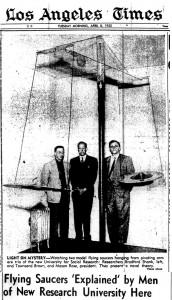 Los Angeles Time se hizo eco de las investigaciones de Brown en 1952, antes del contacto de Adamski con Orthon