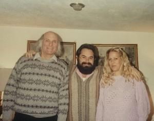 Jacobo Grinberg con Salvador Freixedo y Magdalena del Amo
