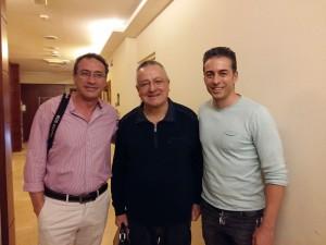 Con Jose Garrido y Paolo Presi